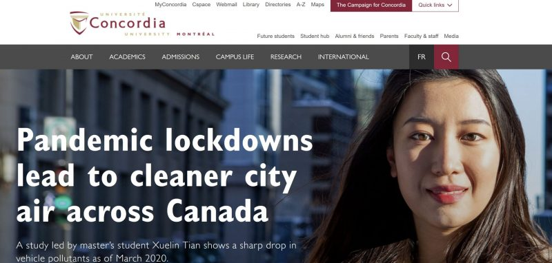 Xuelin's research is featured by Concordia University
